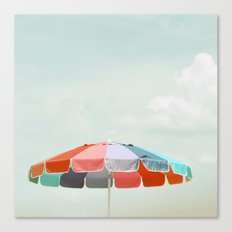 beach umbrella Canvas Print