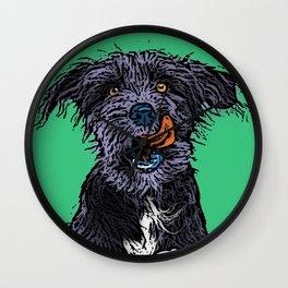 Pop Art Dog Wall Clock