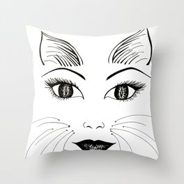 What part of MEOW don't you understand? Throw Pillow