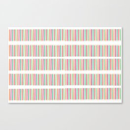 Seamless pattern in back to school theme Color pencil Stripes Canvas Print