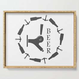 Brewery Beer Pub Handcrafted style Fashion Modern Design Print! Serving Tray