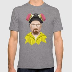 Breaking Bad - Walter White in Lab Gear Mens Fitted Tee Tri-Grey LARGE