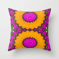 twins Throw Pillows featuring Twins by Kimberly McGuiness
