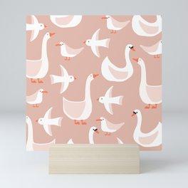 Bird pattern Mini Art Print