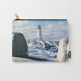 Peggy's Cove Lighthouse in winter Carry-All Pouch