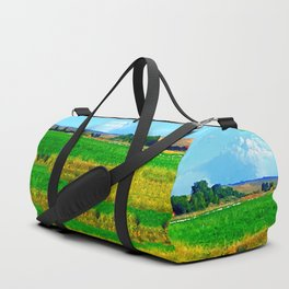 Nestled in the Valley:  Smoke on the Horizon Duffle Bag