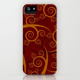 Red Swirl Pattern iPhone Case