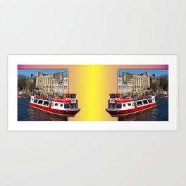 York. The River Cruise double take. Art Print