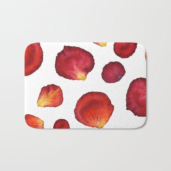 Rose Petal Pattern 03 Bath Mat