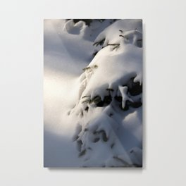 Tree coverd with snow | Winter artwork | fine art photo print in the netherlands | nature and travel photograpy Metal Print