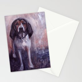 Jane the rescued hound dog Stationery Cards