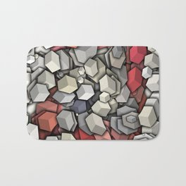 Chaotic 3D Cubes Bath Mat