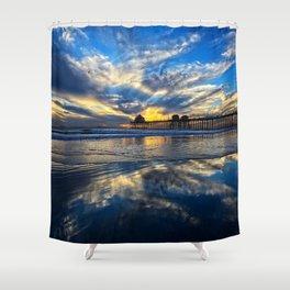 Huntington Beach Sunset   12/15/13 Shower Curtain