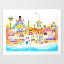 Minotaureland 1 Art Print