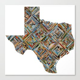 Map of Texas Canvas Print