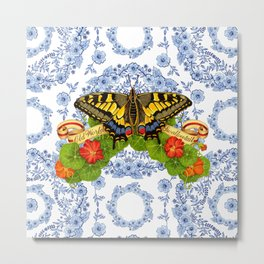 Swallowtail Butterfly and Blue Rhapsody Metal Print