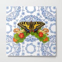 Swallowtail Butterfly and Blue Rhapsody Metal Print