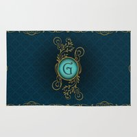letter Area & Throw Rugs featuring Letter G by Britta Glodde