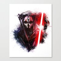 darth Canvas Prints featuring Darth Nihilus by Vincent Vernacatola