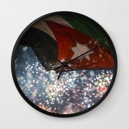 Jordan Fireworks Wall Clock