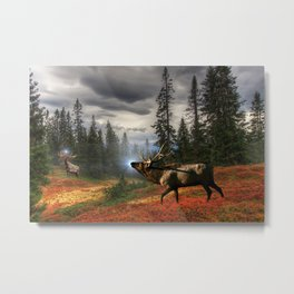 Elk Medicine / Elk Power Animal Metal Print