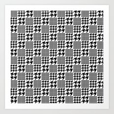 C13D Checkered tooth Art Print