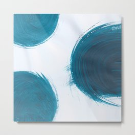 Fire ball, Abstract, Blue Duck Metal Print