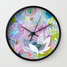 Beautiful Life Floral Wall Clock