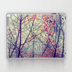 trees misty morning Laptop & iPad Skin