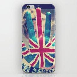 british flag love iPhone Skin