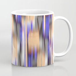 abstract ikat in mild orange and periwinkle blue Coffee Mug