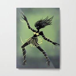 Creepy Midnight Dancing Girl Metal Print