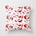 Garden Shadows-Red & White by laurabraydesigns