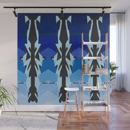 Dazzle blue ships Wall Mural