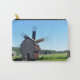 sibiu romania ethno museum wood wind mill Carry-All Pouch