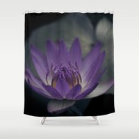 secret life Shower Curtains featuring Loves Secret by Sharon Mau