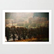 Foggy Morning on Carbeth Loch Art Print