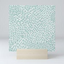 Abstract Brush Strokes, Sea Foam Mini Art Print