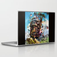 chihiro Laptop & iPad Skins featuring howl's moving castle by ururuty