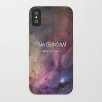 gundam iPhone & iPod Cases featuring Gundam Retro Space 2 by Stefan Trudeau