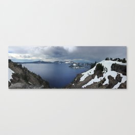 Overlooking Crater Lake Canvas Print