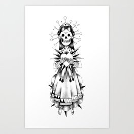 Catrina de mi corazón Art Print
