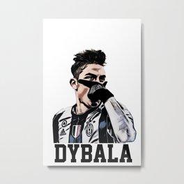 dybala mask celebration Metal Print