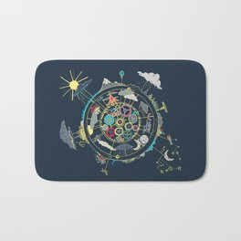 Running Like Clockworld Bath Mat