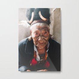 Portrait of the Last Headhunters of Nagaland, Konyak Tribe, India | Travel Photography | Metal Print