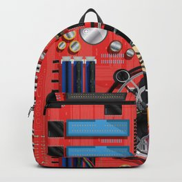 Computer Motherboard Electronics. Backpack