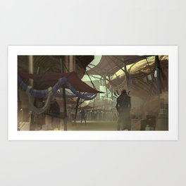 The Great Bazaar Art Print