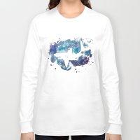 shark Long Sleeve T-shirts featuring Shark by Vanishing Fin