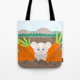 Bunny and carrots Tote Bag