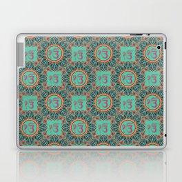Ek Onkar / Ik Onkar  Oriental Pattern on Teal Laptop & iPad Skin